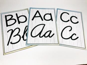 Watercolor Classroom Alphabet Posters