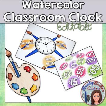Back to School Watercolor Classroom Decor Bundle