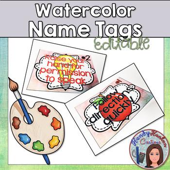 Watercolor Classroom Decor Bundle