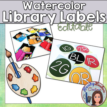 Watercolor Classroom Library Labels