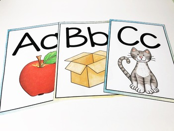 Back to School Watercolor Primary Alphabet Posters