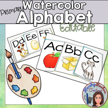 Watercolor Primary Alphabet Posters