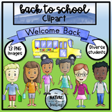 Back to School Clipart - Watercolor