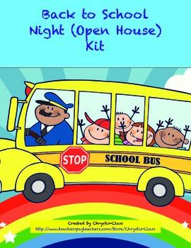 Back to School Night (Open House) Kit