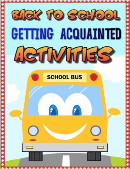 Back to School Getting Acquainted Activities Combo
