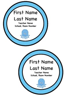 Back to School Wearable Name Tags