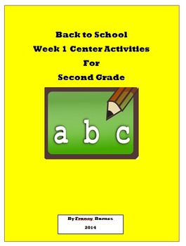 Back to School Week One Investigation Centers