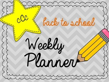 Back to School Weekly Planner