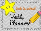 Back to School Weekly Planner