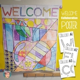 Collaborative Welcome Poster | Great for Back to School Night or Open House!