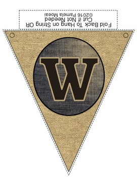 """Back to School """"Welcome Back"""" Pennants (Burlap and Denim)"""