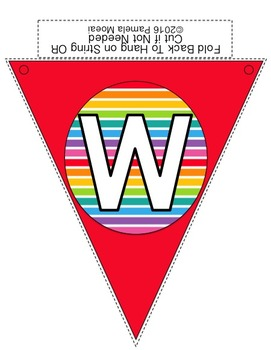 "Back to School ""Welcome Back"" Pennants (Rainbow Stripes and Polka Dots)"