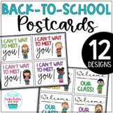 Back to School Welcome Back Postcards Editable