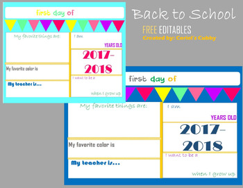 back to school welcome back student stats sign free editable