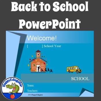 Back to School - Welcome Back To School Editable PowerPoint Template