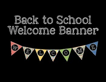 Back to School Welcome Banner