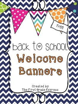 Back to School Welcome Banners
