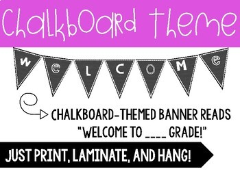 Welcome Banners - great for back to school!