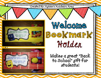 "Back to School ""Welcome"" Bookmark Holder with Note"