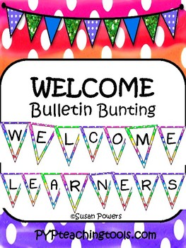 Back to School Welcome Bunting for Bulletin Boards