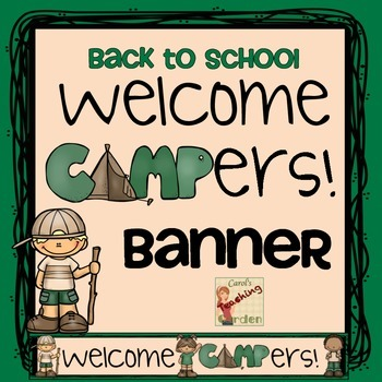 Back to School Welcome Campers Banner