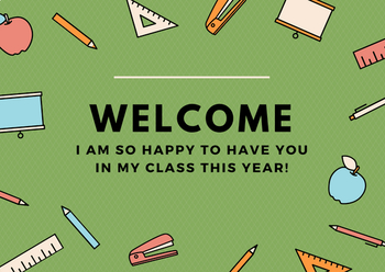 Back to School Welcome Card