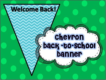 Back-to-School Welcome Chevron Banner