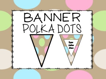 FREE EDITABLE Chocolate and Dots Banner