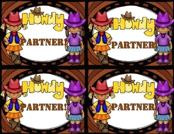Back to School Welcome Howdy Partner Postcards with a Western Theme