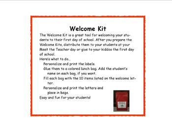 Back to School Welcome Kit
