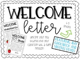 OPEN HOUSE >>>>Back to School Welcome Letter (K-5)