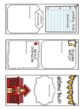 Back to School Welcome Letter Trifold- Brochure