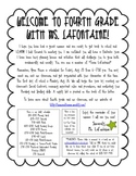 Back to School Welcome Letter from Teacher to Students - NOT EDITABLE