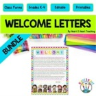 Back to School Letters : Welcome Letters : Students & Parents {Editable}