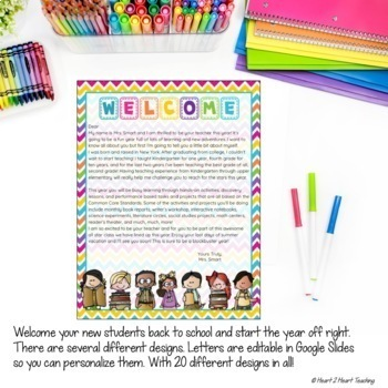 Back to School Letters, Editable Welcome Letters for Students and Parents