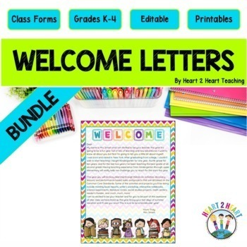 Back to School Letters, Editable Welcome Letters for Stude