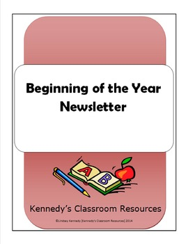 Back-to-School Welcome Newsletter (Editable!)