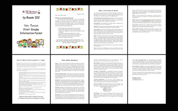 Back-to-School Welcome Packet – Editable!