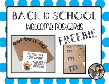 Back to School {Welcome Post Cards}