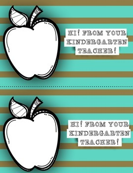 Back to School Welcome Postcards