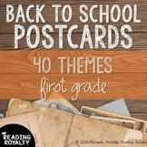 Back to School Postcards: 1st Grade