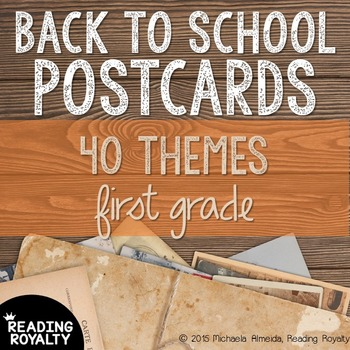 Back to School Postcards: 1st Grade