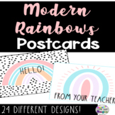 Back to School Welcome Postcards - Modern Rainbows