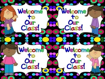 Back to School Welcome Postcards (Terrific Kid)