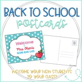 Apple Editable Back to School Postcards to Students