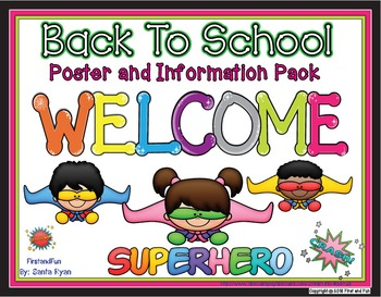 Back to School Welcome Poster and Banner Superhero Theme