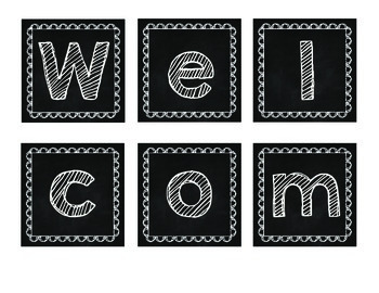Back to School Welcome Sign (1st-5th)