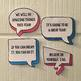 Back to School Welcome Sign and Speech Bubbles
