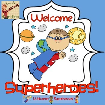 Back to School Welcome Superheroes Banner