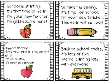 Back to School Welcome Tags FREEBIE